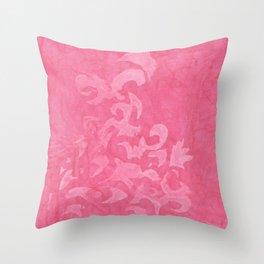 Rose Damask Throw Pillow