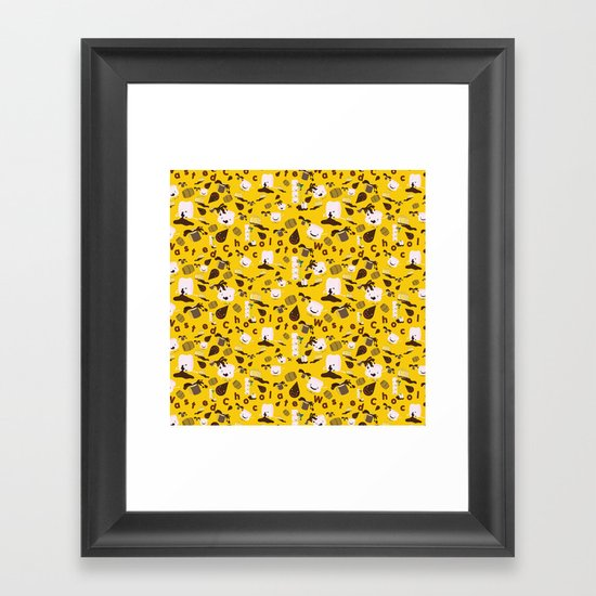 Chocolate Wasted Pattern Framed Art Print