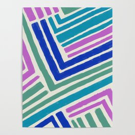 Color Lines Connections  Abstract Brushstrokes Pattern