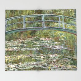 Bridge over a Pond of Water Lilies by Claude Monet Throw Blanket