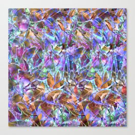 Floral Abstract Stained Glass G268 Canvas Print