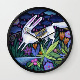 Frolic in the Forest Wall Clock