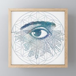 Mandala Vision Flower of Life Framed Mini Art Print