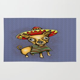Mexican Chihuahua in Brown Rug