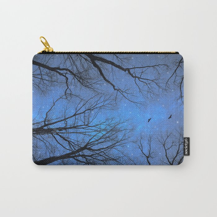 A Certain Darkness Is Needed (Night Trees Silhouette) Carry-All Pouch