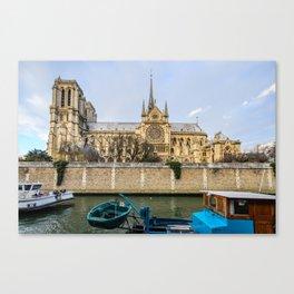 Notre Dame Paris - Side View Canvas Print