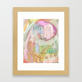 Shapes and Layers no.31 - Abstract paintings with texture Framed Art Print