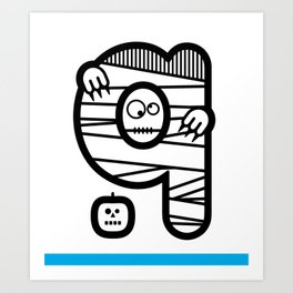 ABC: Q Art Print