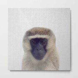 Monkey - Colorful Metal Print