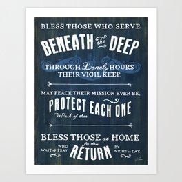 Submariners' Hymn Art Print