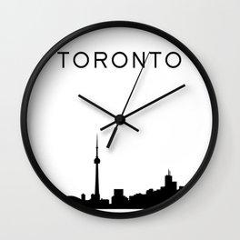 Toronto Skyline Graphic Wall Clock