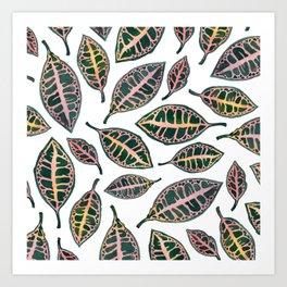 Petra Leaves Art Print