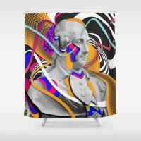 washington Shower Curtains featuring George Washington by Danny Ivan