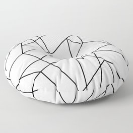 Simple Modern Black and White Geometric Pattern Floor Pillow
