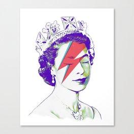 Queen Elizabeth / Aladdin Sane Canvas Print