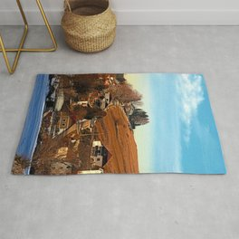 Road upon the river   landscape photography Rug