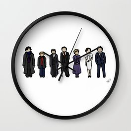 Characters of Sherlock Wall Clock