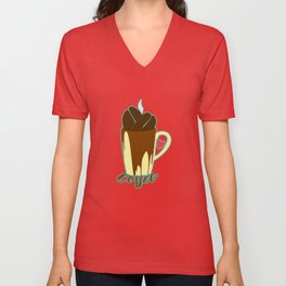 The Coffee Addiction Unisex V-Neck