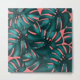 monstera leaves 2 Metal Print