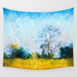 Tree in Field Wall Tapestry