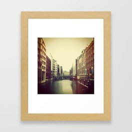 HAMBURG Framed Art Print