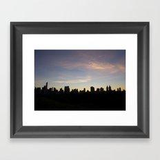 New York Skyline at Dusk  Framed Art Print