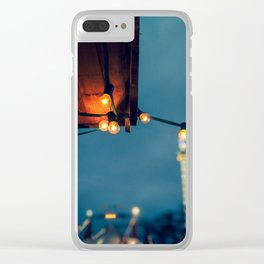 Winter Lights Clear iPhone Case
