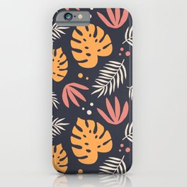 Magical garden -exotic tropical plants print iPhone Case