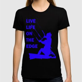Live Life On The Edge Neon Blue Kitebeach T-shirt
