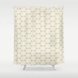 White cotton flower Shower Curtain