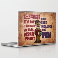 ron swanson Laptop & iPad Skins featuring Ron Swanson by maykel nunes