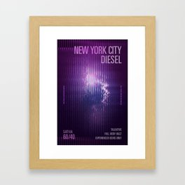 New York City Diesel v2 Framed Art Print