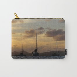 Watercolor People in Nature, NSS, Sailboat 11, St John, USVI Carry-All Pouch
