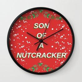 Son of a Nutcracker Wall Clock