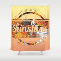 sunshine Shower Curtains featuring Sunshine by MehrFarbeimLeben