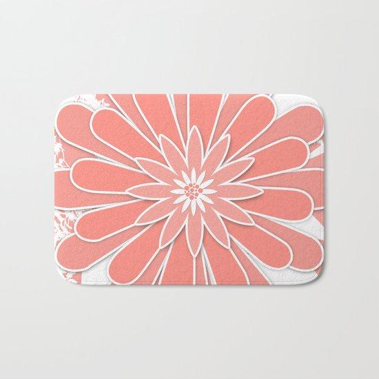 Coral flower . 2 Bath Mat