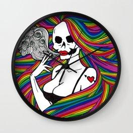 Psychedelic Death Wall Clock