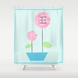 Flower E Shower Curtain
