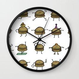 Hooray! Cheeseburgers! Wall Clock