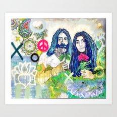 Peace and Love Art Print
