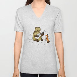 Bear & Fox Unisex V-Neck