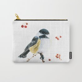 Christmas Chickadee by Teresa Thompson Carry-All Pouch