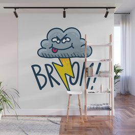 Funny Fart Cartoon Cloud Wall Mural