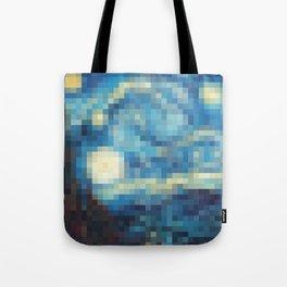 Pixelized Night Tote Bag