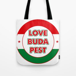 Love Budapest, circle, color Tote Bag
