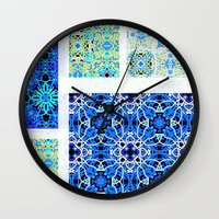 calm Wall Clocks featuring Calm by k_c_s