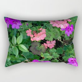 Pink and purple garden Rectangular Pillow
