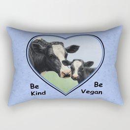 Holstein Cow and Calf Vegan Rectangular Pillow