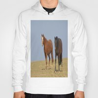 horses Hoodies featuring horses by Laake-Photos
