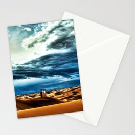 Tardis Art With Soft Clouds Stationery Cards